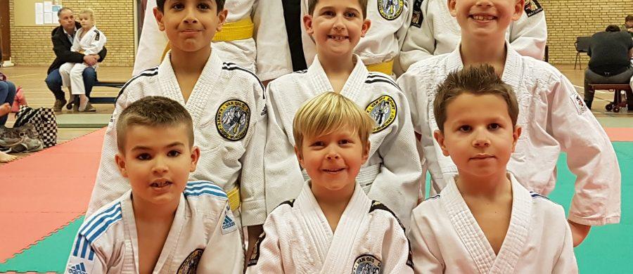 5x goud op 5e streekontmoeting judo.